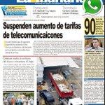 #Titulares diario La Mañana: Suspenden aumento de tarifas de telecomunicaciones https://t.co/DFeKi4DZr3