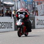 くまモンレーシングバイクに乗るんだモン! #鈴鹿8耐 https://t.co/jJ5wEMFmAP
