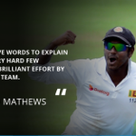 #SL captain @Angelo69Mathews couldnt put into words how good it was to get a 2nd ever Test win v Australia #SLvAus https://t.co/9xpUcLolW8