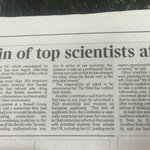 The Times reports leading scientists turning down roles in UK Universities post Brexit.@Wonkhe https://t.co/xpCn3AAaSp