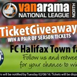 .@FCHTOnline fans! Win a pair of season tickets! Follow us & RT to enter in the #BigTicketGiveaway2016 https://t.co/RoOxiNbZOp