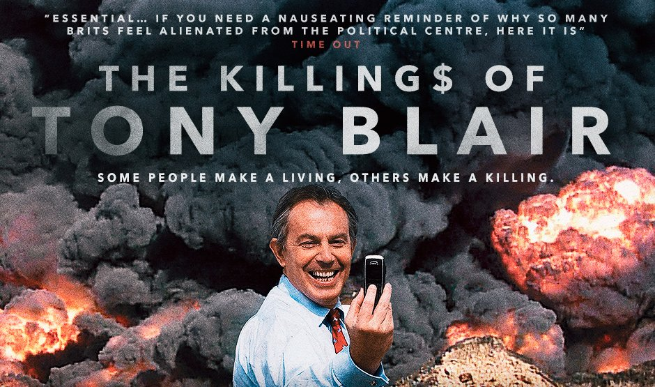 NOW BOOKING: #TheKillingsOfTonyBlair plus Q&A with @georgegalloway https://t.co/poGuZkNJha Tue 6 Aug, 6.30. https://t.co/88TJVvnmvh