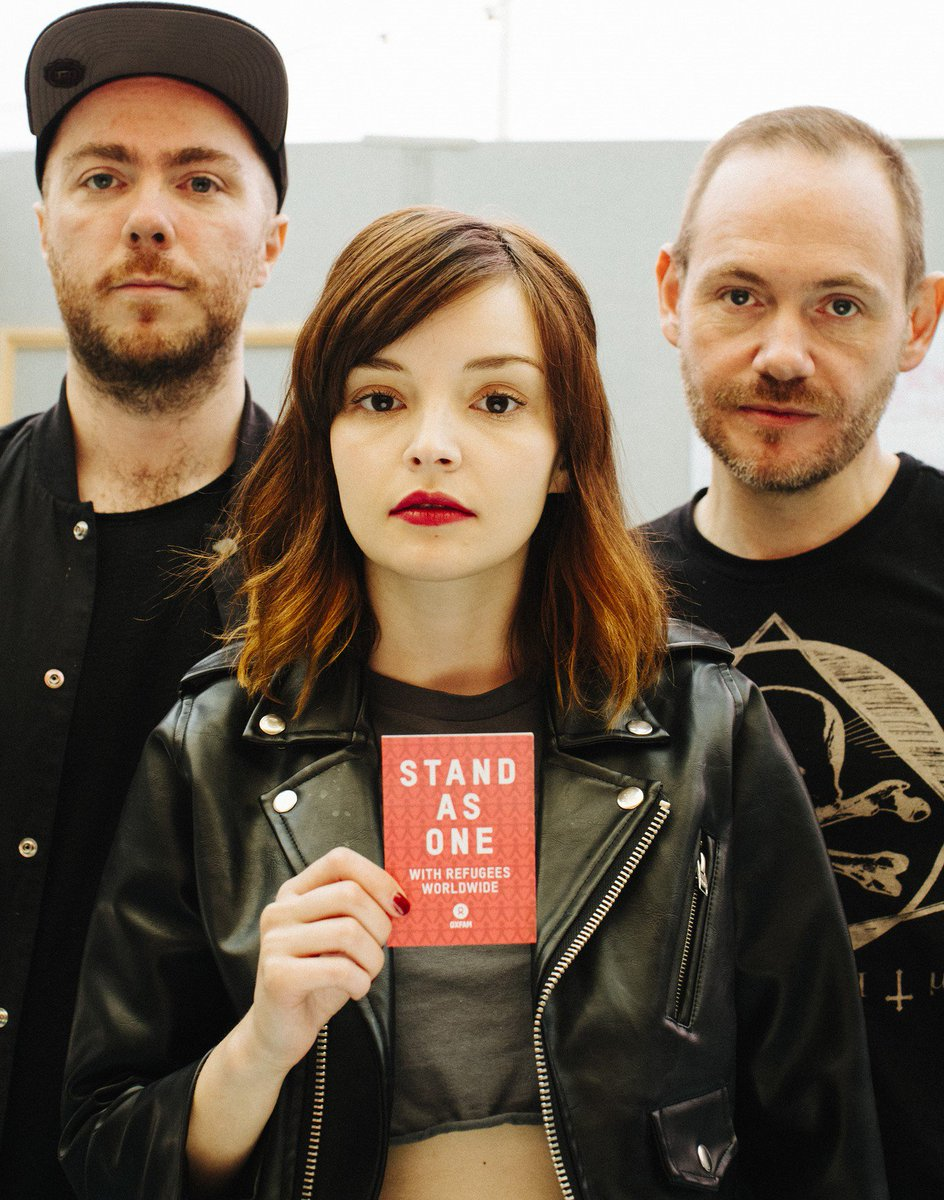 Scots band @CHVRCHES are taking part in the #StandAsOne campaign. See https://t.co/hgXqhgxuxz #CHVRCHES Pic Medhurst https://t.co/XvSqiHCq9P