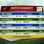 And Sri Lanka have done it! 106-run win. #SLvAUS https://t.co/AFaJQKZag6