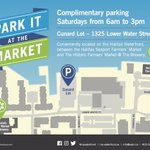 RT @My_Waterfront: Park it at the Market! 7am-3pm FREE PARKING! #Halifax https://t.co/vEPnjafIpB