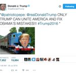 A possible future president is tweeting out Thomas the Tank Engine photoshops at 2am. https://t.co/BJ2RpvQait