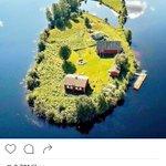 A private island in Rovaniemi, Finland. Looks like a mirrored image of SriLanka :) https://t.co/pFIT3agdo9