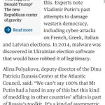 Often left out of Trump-Russia debate: Russia has interfered with foreign elections before https://t.co/6c6K13vOBx https://t.co/1pYKDZnBEV
