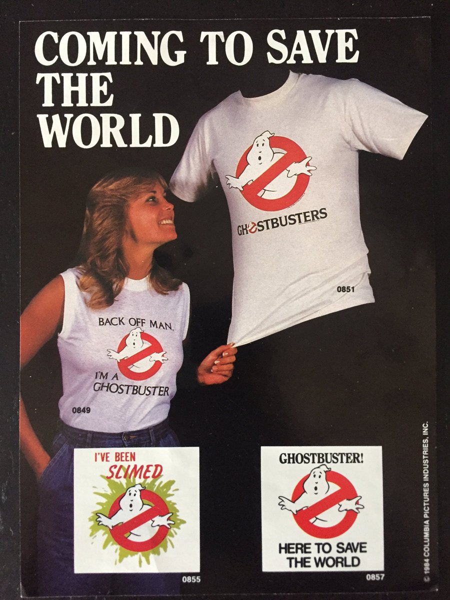 Ghostbusters merch order form from 1984. https://t.co/4Szov1DB7k