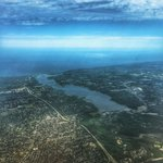 Aerial view of #Irondequoit Bay #ROC 💙 Photo shared by Ryan. #ThisIsROC #Rochester https://t.co/kXphnicmil