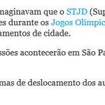 O STJD vai para SP durante as Olimpíadas, e coincidentemente, denunciam o assalto do Heber. https://t.co/GWLv8p5Uxh