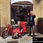 Dit is toch wel de #held van #Dordrecht. Deze man heeft de pelgrimstocht op zijn oude #kreidler gedaan. #prisma https://t.co/HCFbeIlVse