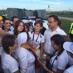 Prezydent @AndrzejDuda wśród pielgrzymów w Brzegach. #ŚDM #Krakow2016 https://t.co/ERHl7INYrf