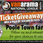 .@PooleTownFC fans! Win a pair of season tickets! Follow us & RT to enter in the #BigTicketGiveaway2016 https://t.co/QlqhZQQ82o