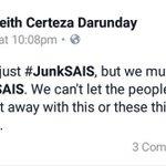 Dont let them get away with this though. #JunkSAIS #InvestigateSAIS https://t.co/ryBNepibeX