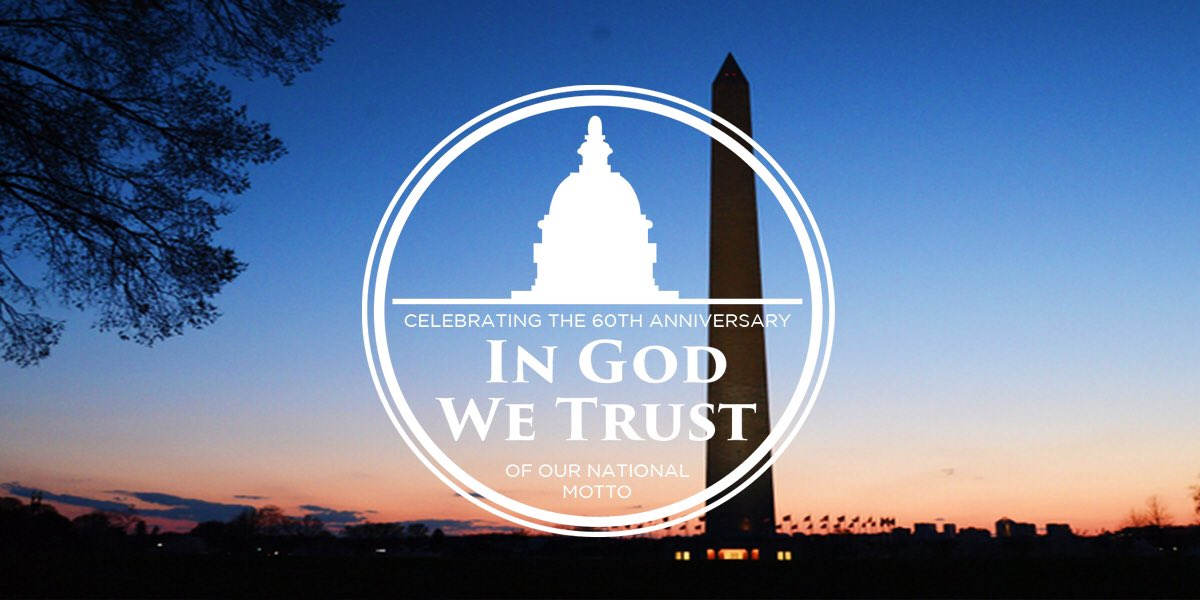 Celebrating America's heritage of faith & freedom on the 60th anniversary of our national motto #InGodWeTrust https://t.co/Dqp63vtl4A