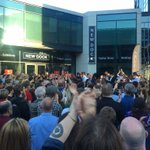 Amazing. The crowd was so big at Leeds event they couldnt all fit in the venue. Corbyn came outside to address them https://t.co/H16Zzks1bn