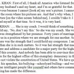 Donald Trump said he would have liked to hear from the wife of Khizr Khan. Heres what she said on MSNBC last night: https://t.co/7Fd2jtDlgp