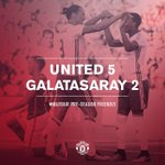 FT: United 5 Galatasaray 2. #MUTOUR https://t.co/PAglBYqNAd