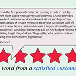 Thanks Patrick P. for the 5-star review: #Printing #SanDiego #5StarReview https://t.co/TdBtQcT8ek