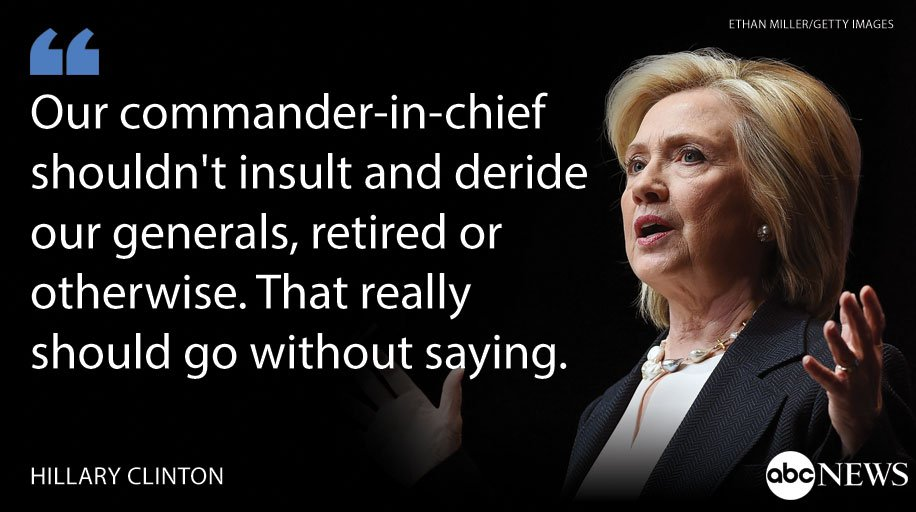 Clinton: Trump's comments on Gen. Allen 'prove' he should not be commander-in-chief https://t.co/Q860JVGBwt