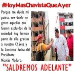 """#HoyMasChavistaQueAyer porque """"Chávez ya no soy yo, Chávez es el Pueblo"""" @NicolasMaduro @ConCiliaFlores https://t.co/kSjsDpLara"""