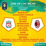 The #LFC starting line-up and substitutes to face @acmilan in full https://t.co/W2dHpjQpqK