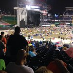 At the wet Billy Joel concert. we are dry in 3rd base seats. everyone else paid 3 times more and r wet seating. https://t.co/l1f8tQUtw9