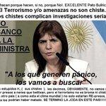 NADA ESTA DE MAS EL TERRORISMO ESTA EN CUALQUIER PARTE. #YoBancoAPatriciaBullrich @PatoBullrich #PRECAUCIONyVALOR https://t.co/Bt4iQvUmj7