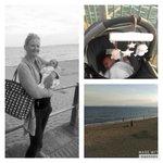 Enjoying the sunset whilst her Dad caught pokemon! #Bournemouth #9daysold #firsttriptothebeach https://t.co/lrdJhQnzb8