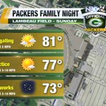 Heading to Lambeau for Packers Family Night tomorrow? Id say its a great day for a game of football. #Packers https://t.co/ukPy0ig7Oa