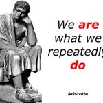 We are what we repeatedly do.~Aristotle #ThinkBIGSundayWithMarsha #GainWithXtianDela https://t.co/glSRERGZ6Q