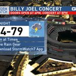 On &off heavy showers for the @billyjoel concert @Nationals Park this evening. Wont rain for entire concert. https://t.co/T2Rdf6Rrc4