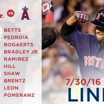 Tonight's #RedSox lineup for Game 3 of the series against the Angels. https://t.co/aZlXCoLC5A https://t.co/sHo4m8gstS