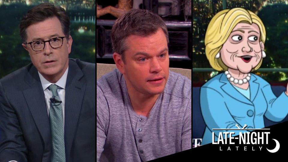 Late-Night Lately: @JimmyKimmel and Matt Damon return to couples counseling