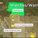 Current WATCHES/WARNINGS: #yyc #yql under Severe TStorm WATCH. TStorm WARNING in Airdrie, Crossfield & area #ABStorm https://t.co/khOmssRlhO