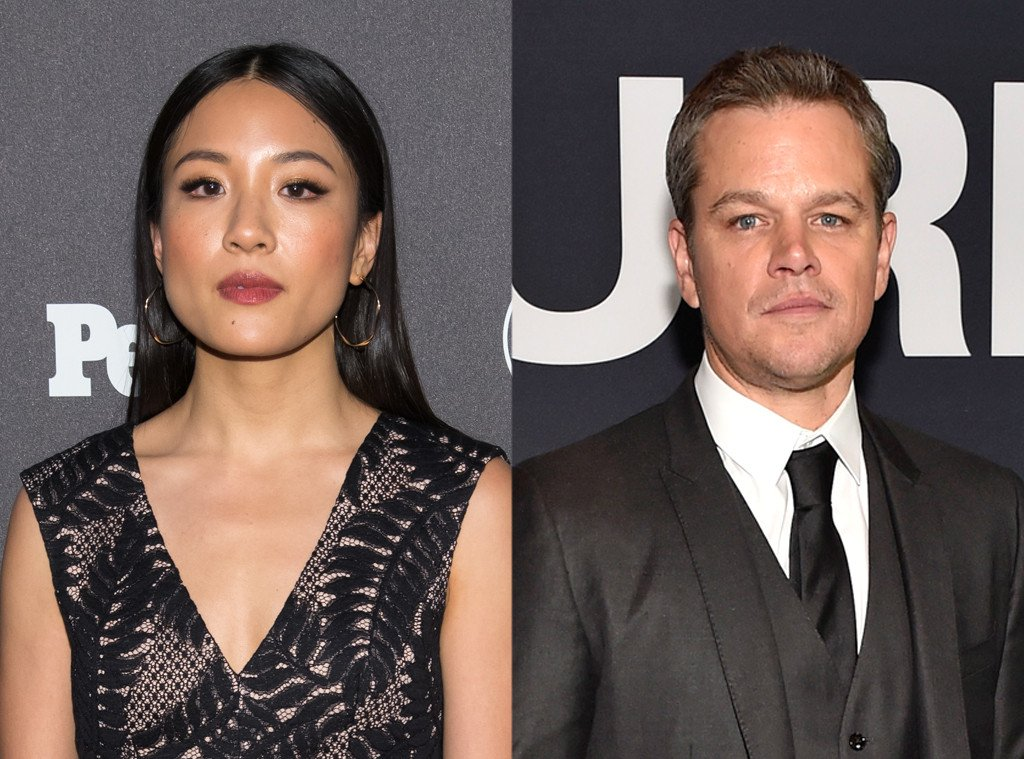 Constance Wu is not at all here for Matt Damon's latest role.