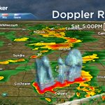 A 3D view of the massive cell along the N edge of #yyc. Significant hail in areas. yyc under a Severe TStorm WARNING https://t.co/CPjzcerlbe