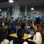 En Avellaneda, con los estudiantes secundarios en su Plenario, escuchando a @CFKArgentina https://t.co/nizKon2u2f