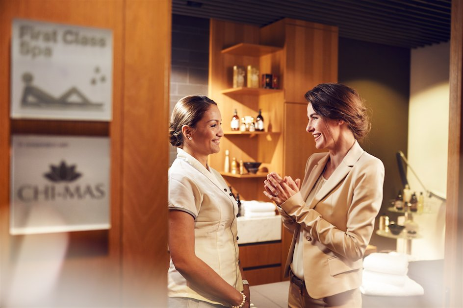 Take a deep breath and let go at the First Class Spa in Frankfurt Airport: