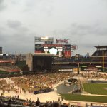 At Nats park waiting for the rain and Billy Joel. Rain starting, concert to come. https://t.co/48H8M9EzES
