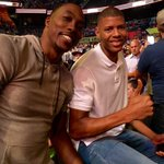 New teammates @DwightHoward and @waltertavares22 met up at #UFC201! 👍👍 #TrueToAtlanta https://t.co/VqXg9gjrXh