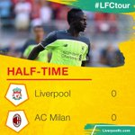 HALF-TIME: A dominant first half from #LFC unfortunately cant produce a breakthrough as it remains goalless. https://t.co/uNB64fJ9UU
