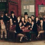The public house as it used to be - the Charing Cross Arms in #London c.1819 complete with clay pipes and top hats. https://t.co/9iNT3g7CYS
