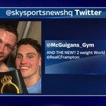 SOCIAL: @RealCFrampton defeats @LeoSantaCruz2 to win WBA featherweight title: https://t.co/eLAd3SYcHJ https://t.co/30mWJKCjGM