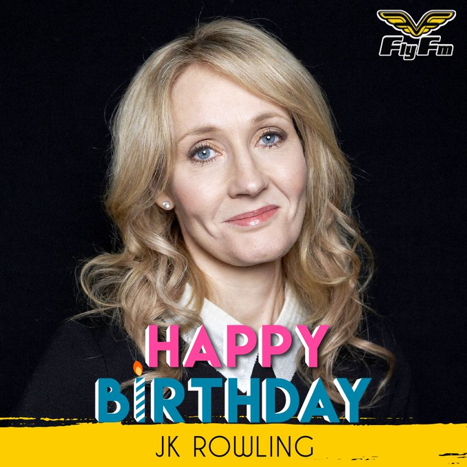 HAPPY BIRTHDAY to the author of Harry Potter, J.K. Rowling! And to those celebrating today, HAPPY BIRTHDAY too!