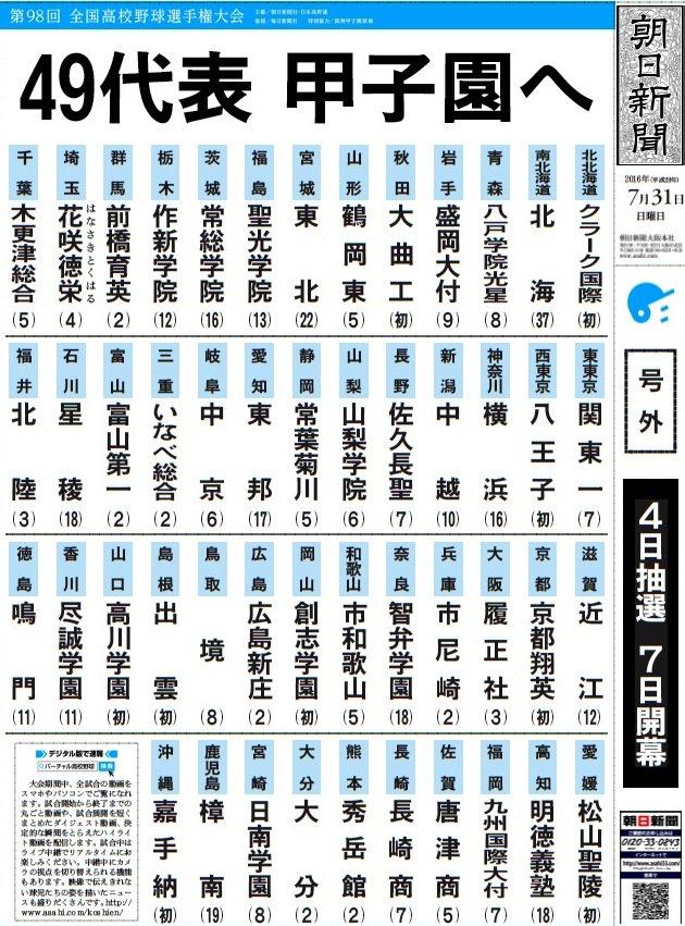 神奈川は横浜、大阪は履正社が優勝し、全49代表校が決まりました - 第98回選手権大会:バーチャル高校野球(朝日新聞×朝日放送) https://t.co/PJCdncOUTt https://t.co/8M6RAQQKf5