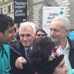 History will record that Jeremy Corbyn stood with the Junior Doctors when they went on strike. Where was your MP? https://t.co/OyLepqYIGi