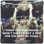 Carl Frampton after winning the WBA world featherweight title overnight 👊🍻 https://t.co/PSZZqmFyXo