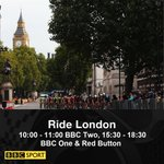 Join us on @BBCTwo now for our first instalment of todays #RideLondon action. https://t.co/D7sOU9msTL https://t.co/GsbxJS3pbZ
